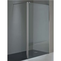 Mampara de ducha frontal. Castel. Mod. WALK-IN 200. 1 fijo + 1 puerta abatible